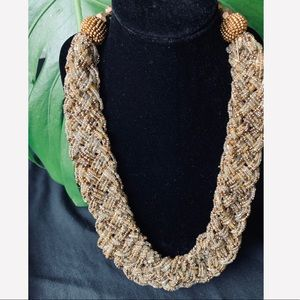 Jewelry - Beaded multi layer braided adjustable necklace